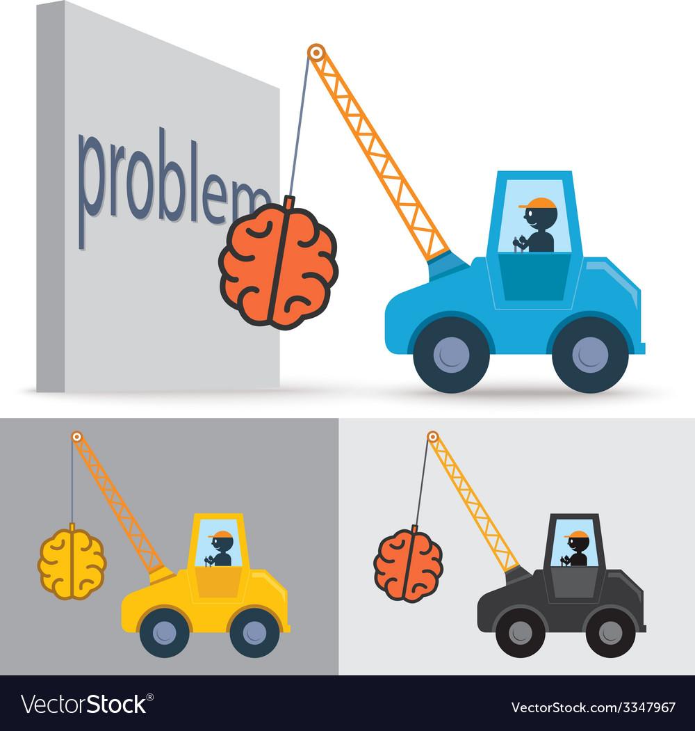Brain crane idea vector | Price: 1 Credit (USD $1)