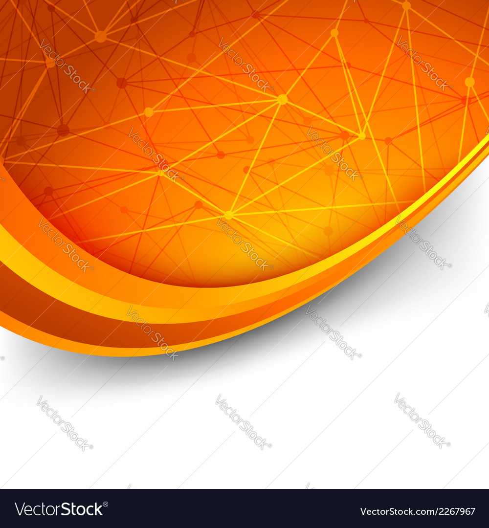 Bright orange intricacy molecule background vector | Price: 1 Credit (USD $1)