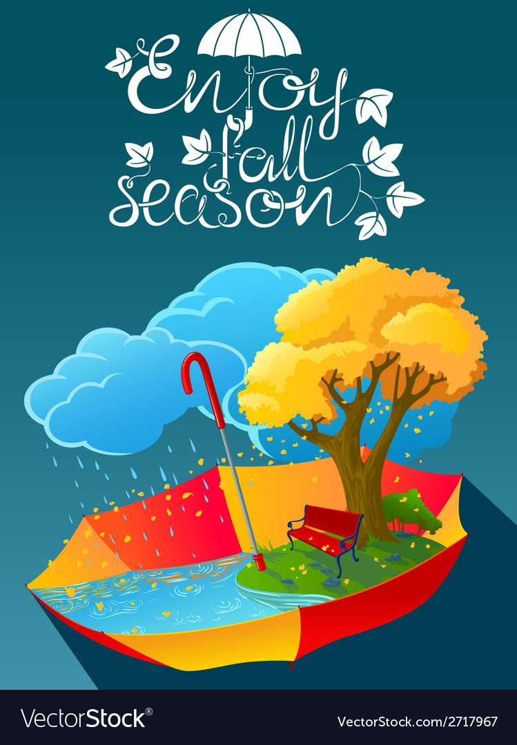 Fall season vector | Price: 1 Credit (USD $1)