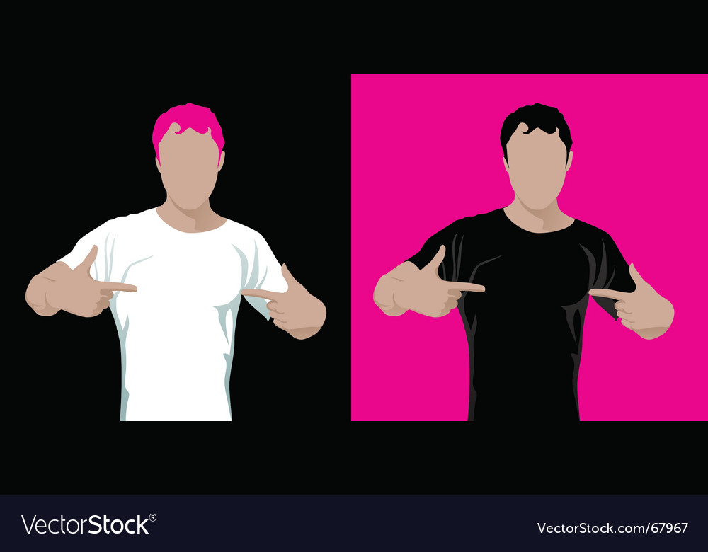 Man in t-shirt vector | Price: 1 Credit (USD $1)