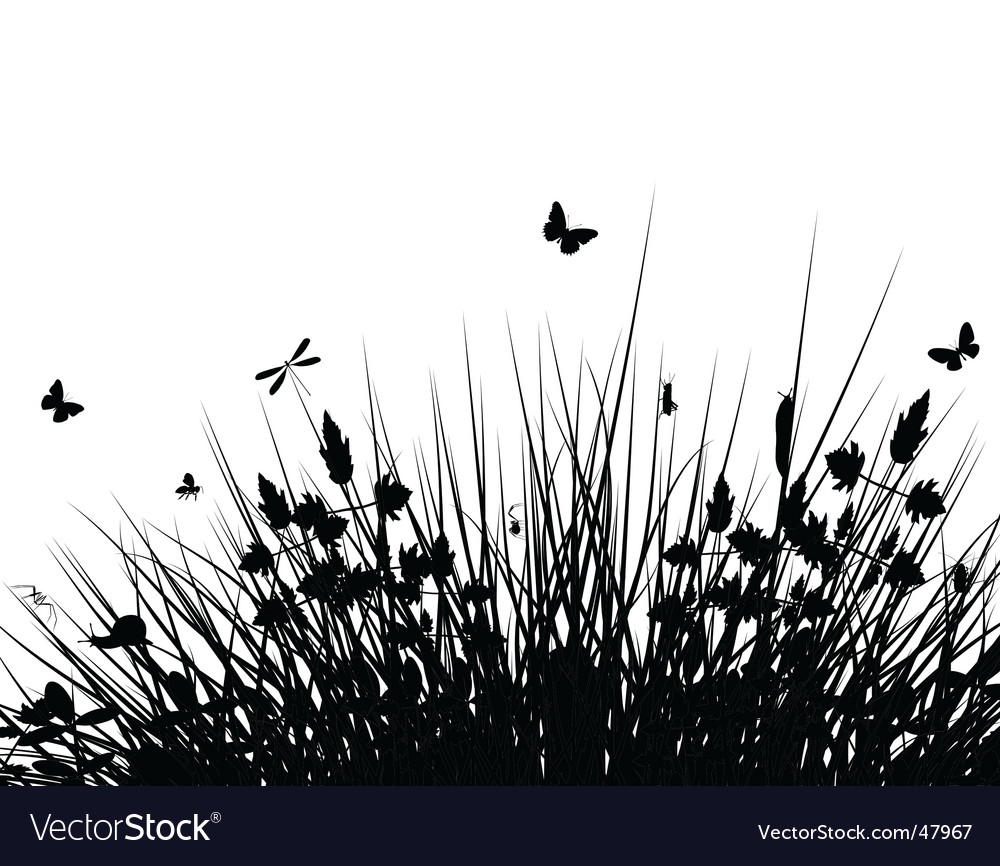 Meadow silhouette vector | Price: 1 Credit (USD $1)