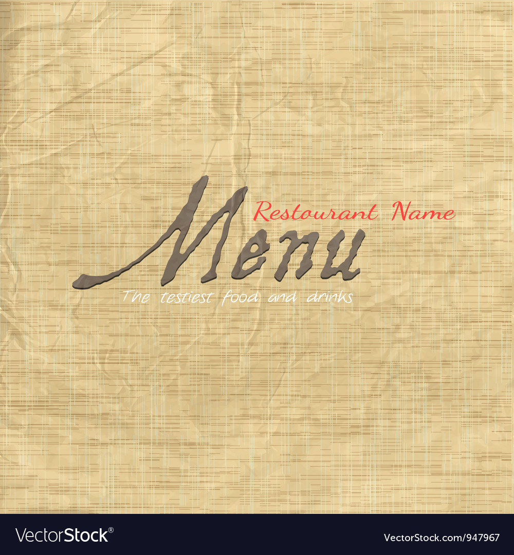 Menu card design on texture old paper vector | Price: 1 Credit (USD $1)