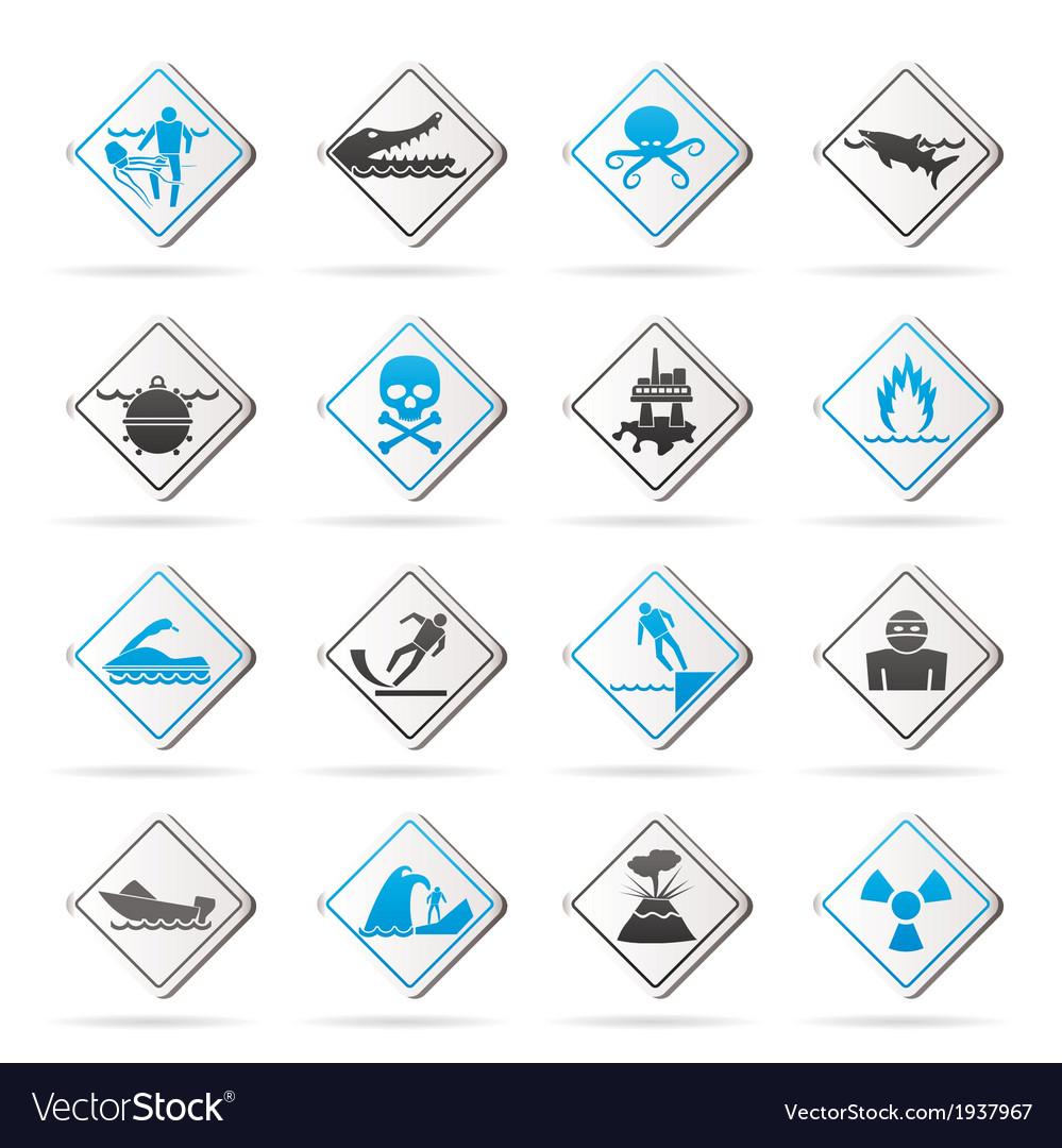 Warning signs for dangers vector | Price: 1 Credit (USD $1)