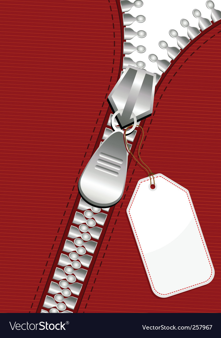 Zipper with tag vector | Price: 1 Credit (USD $1)
