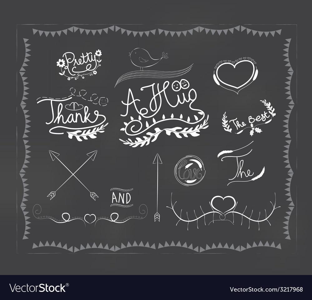 Chalkboard doodle frame vector | Price: 1 Credit (USD $1)
