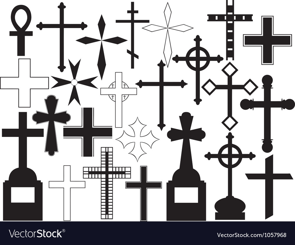 Cross set vector | Price: 1 Credit (USD $1)