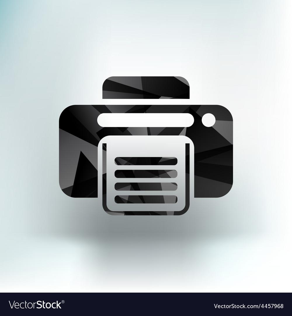Fax icon design printer document print vector | Price: 1 Credit (USD $1)