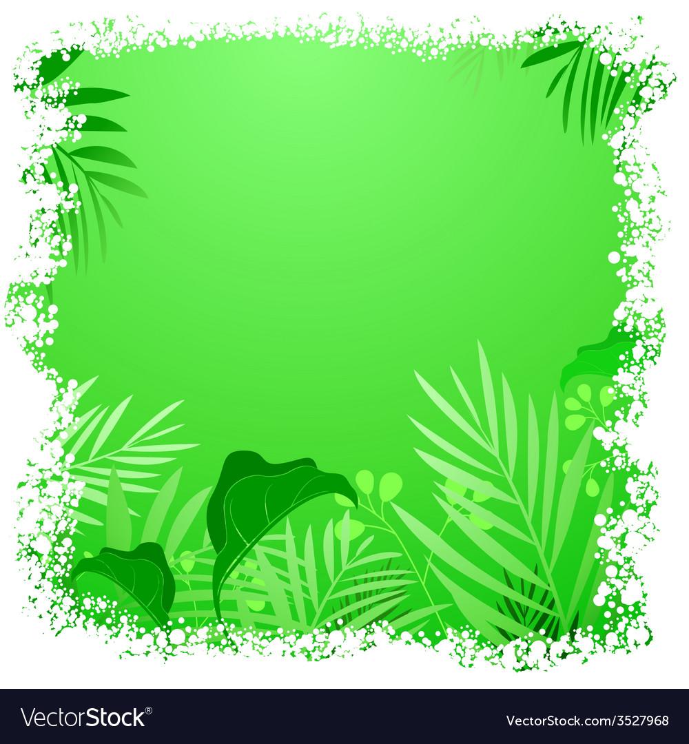 Green leaf tropical frame vector   Price: 1 Credit (USD $1)
