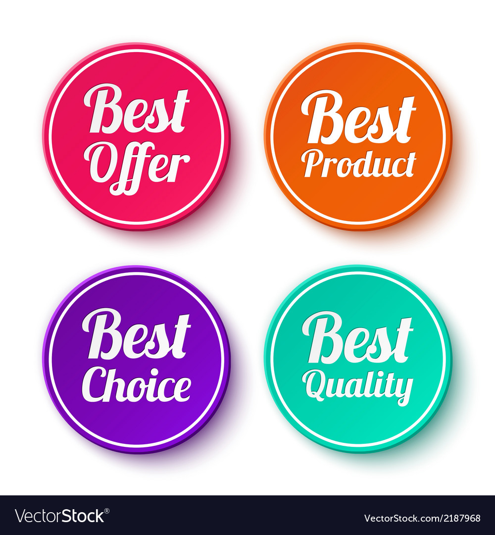 Set of promotional stickers labels vector | Price: 1 Credit (USD $1)