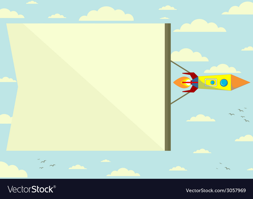 Cosmic rocket with the horizontal position of vector | Price: 1 Credit (USD $1)