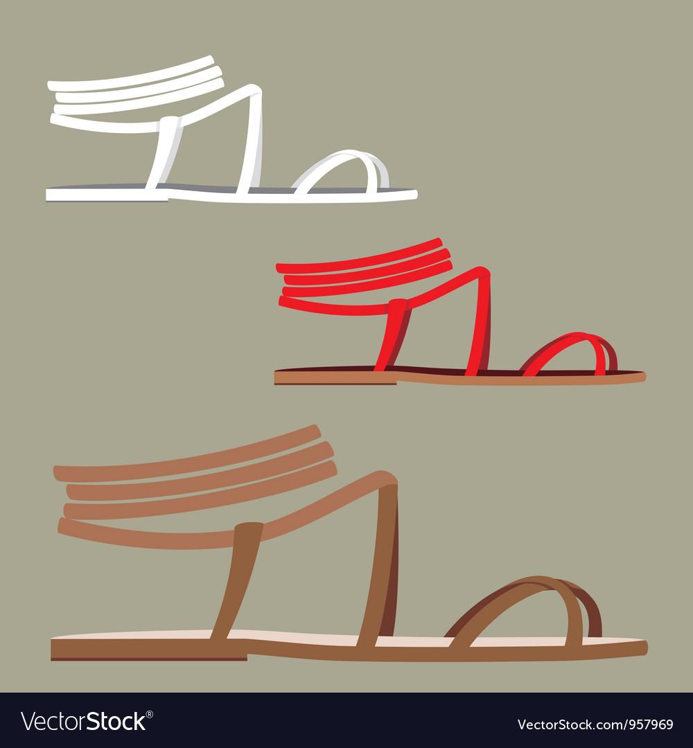 Female sandals vector | Price: 1 Credit (USD $1)