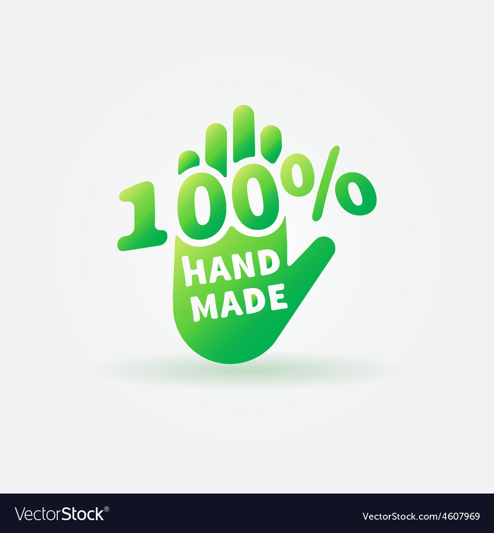 Hand made green label or sign vector | Price: 1 Credit (USD $1)