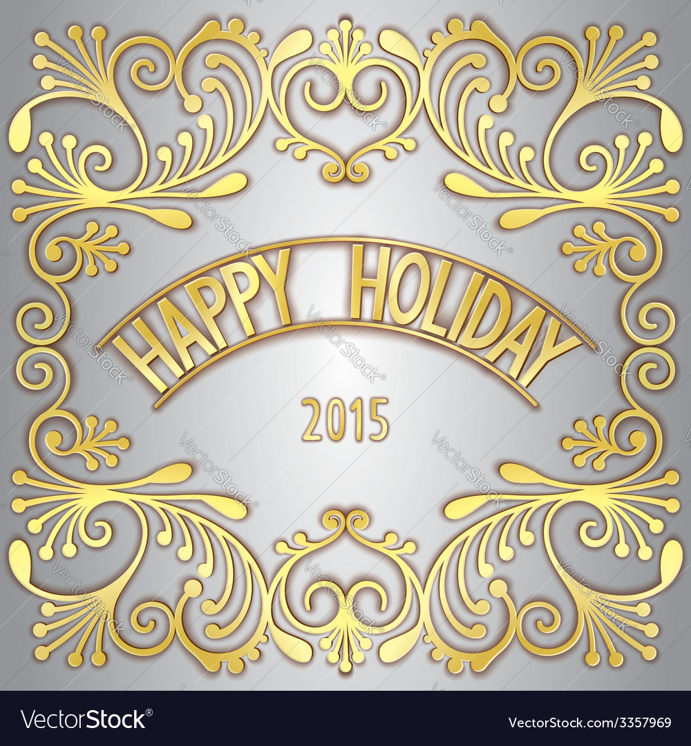 Happy holiday greeting card vector | Price: 1 Credit (USD $1)