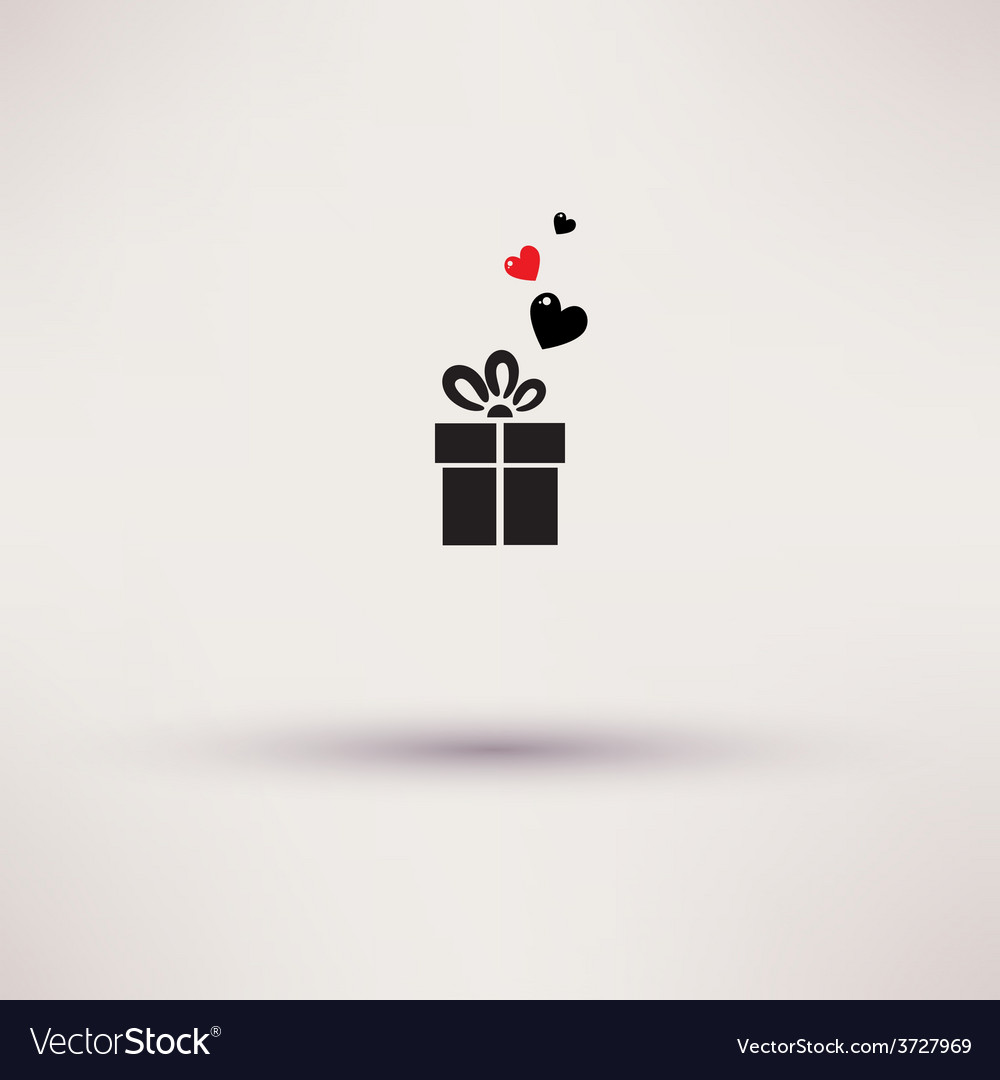 Pictograph of gift icon template design vector | Price: 1 Credit (USD $1)
