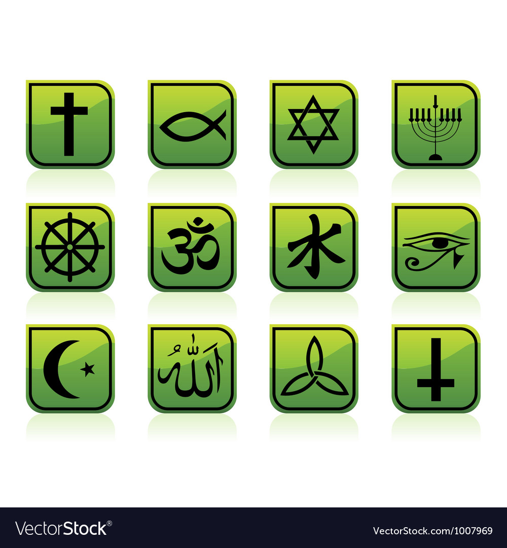 Religious signs vector | Price: 1 Credit (USD $1)