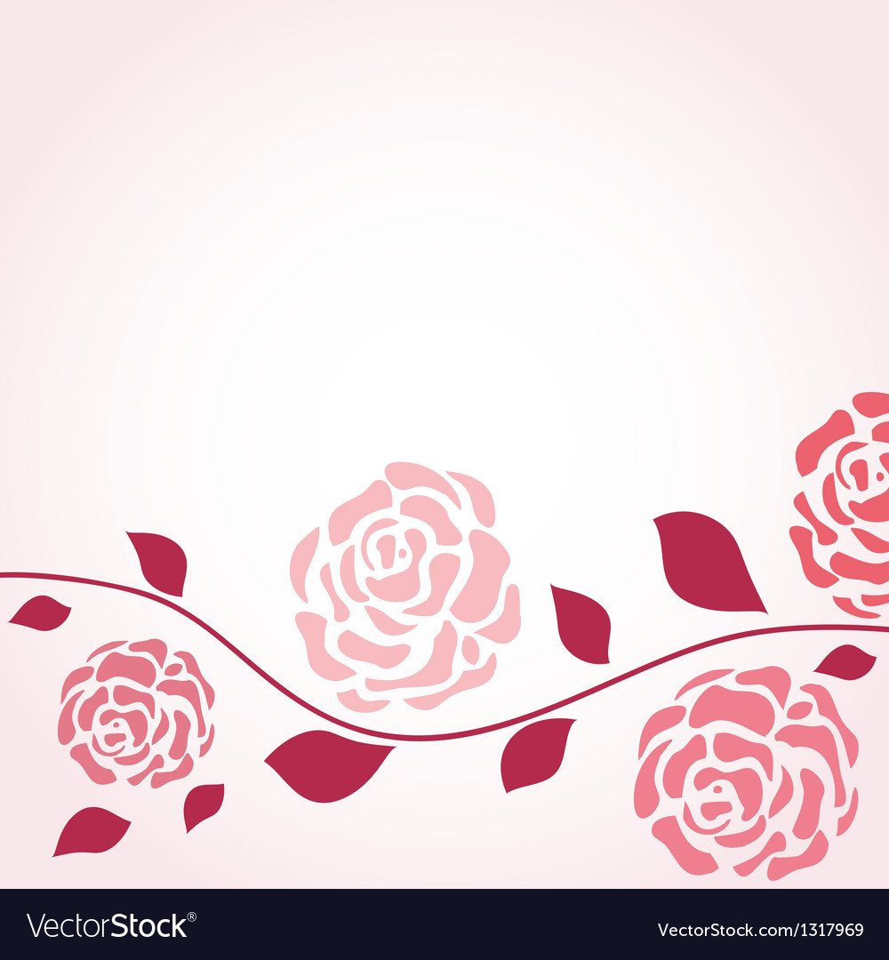 Retro card with vintage rose vector | Price: 1 Credit (USD $1)