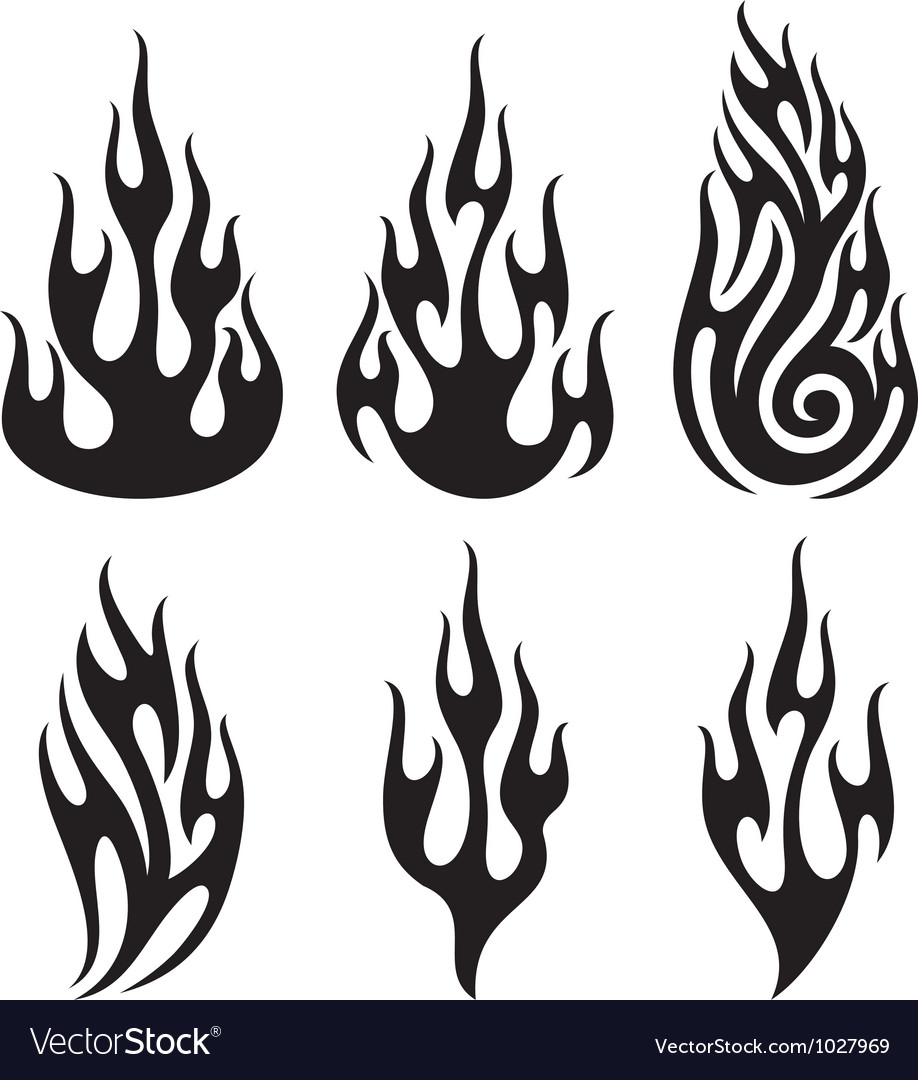 Set of flames - flames collection vector | Price: 1 Credit (USD $1)