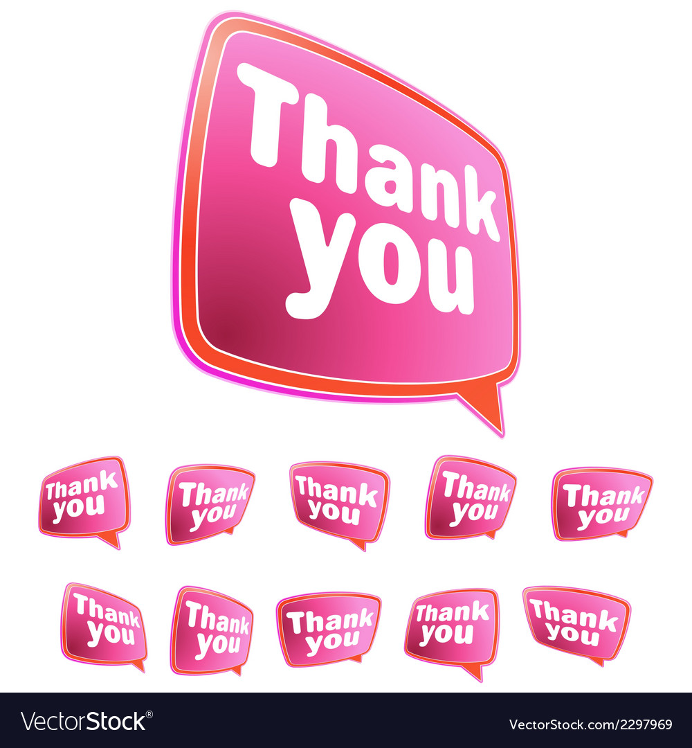 Thank you message stickers set  eps8 vector | Price: 1 Credit (USD $1)