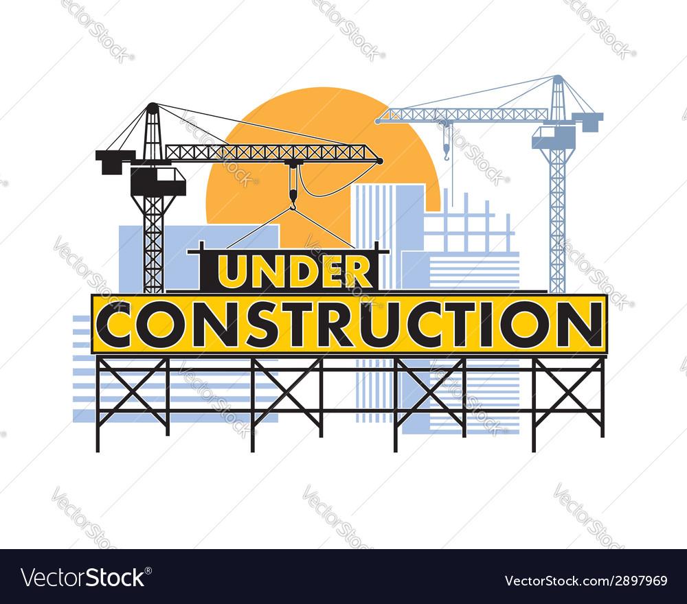 Under construction color vector | Price: 1 Credit (USD $1)