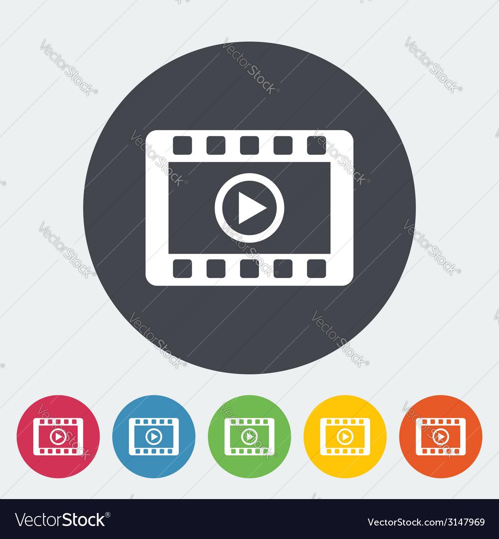 Video icon vector | Price: 1 Credit (USD $1)