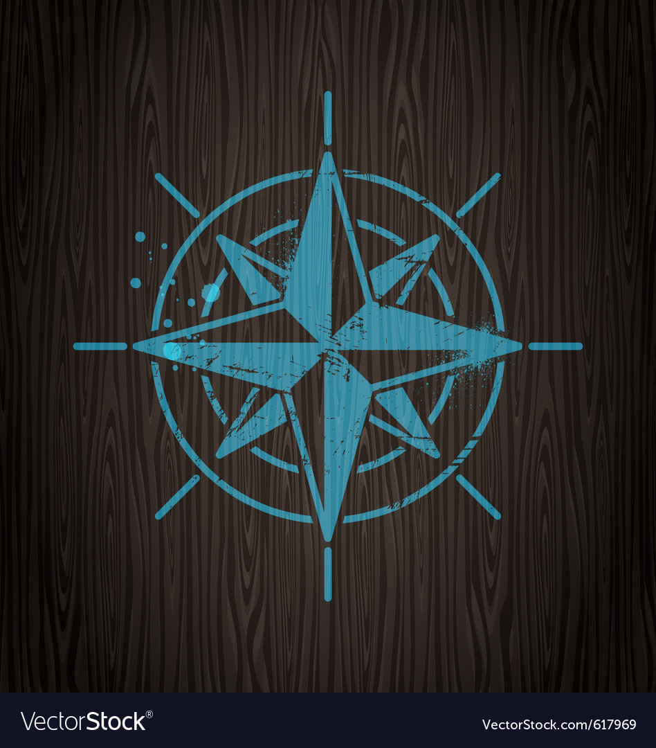 Vintage compass rose vector | Price: 1 Credit (USD $1)