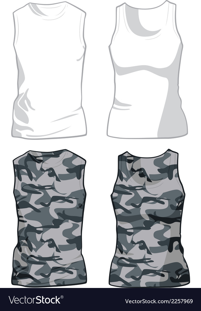 White and military shirts template vector | Price: 1 Credit (USD $1)