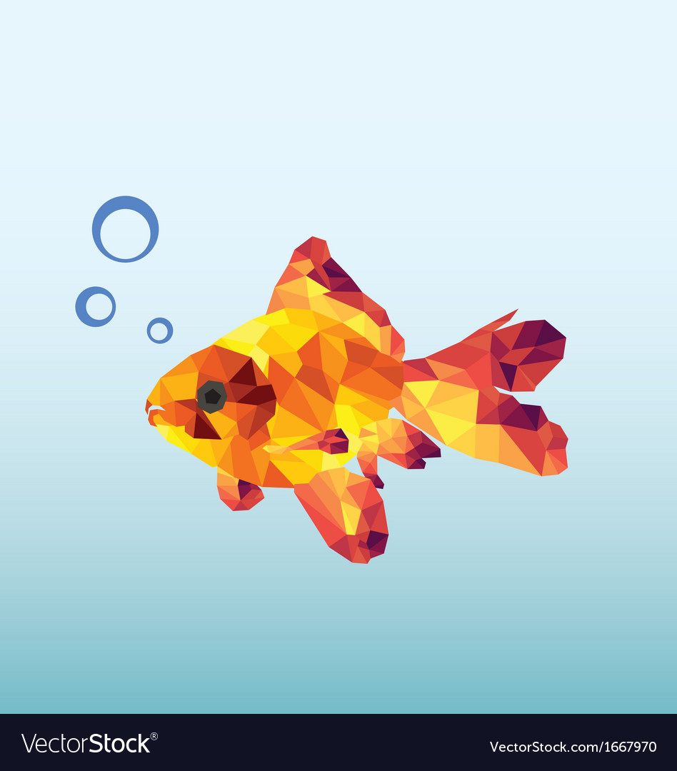 Abstract goldfish vector | Price: 1 Credit (USD $1)
