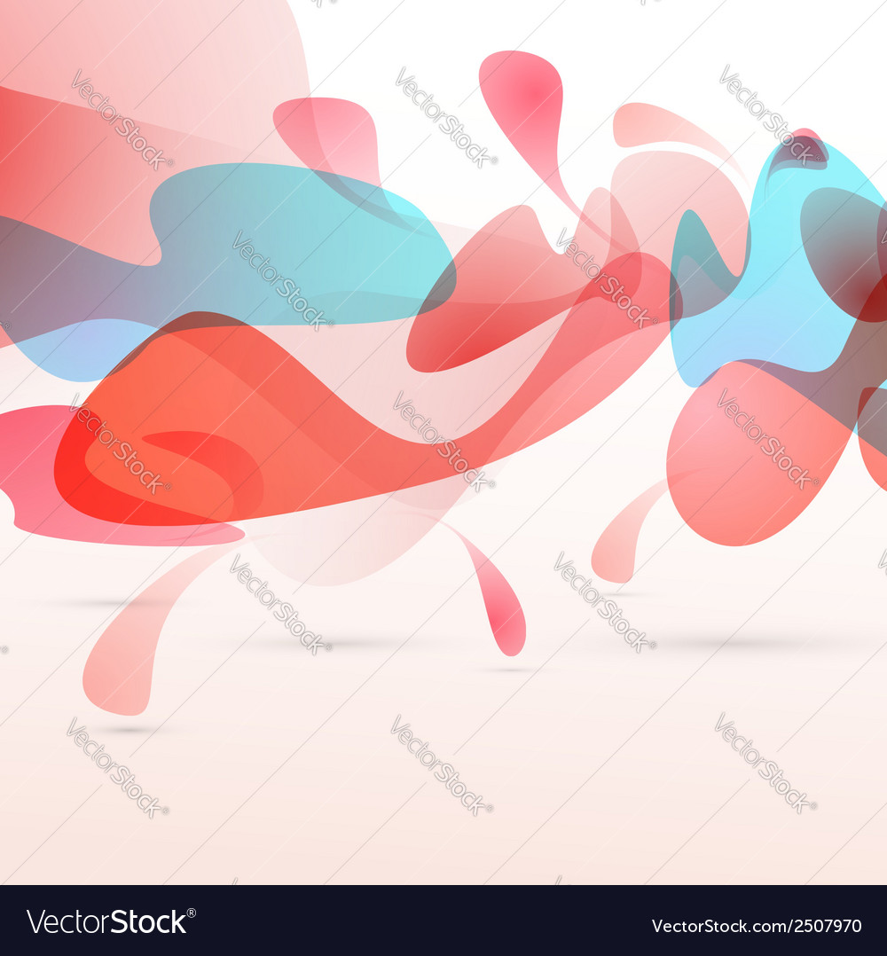 Abstract red liquid elements design background vector | Price: 1 Credit (USD $1)