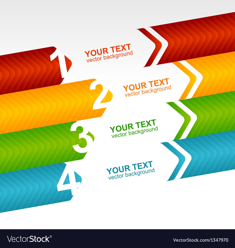 Arrow speech templates for text 1 2 3 4 vector