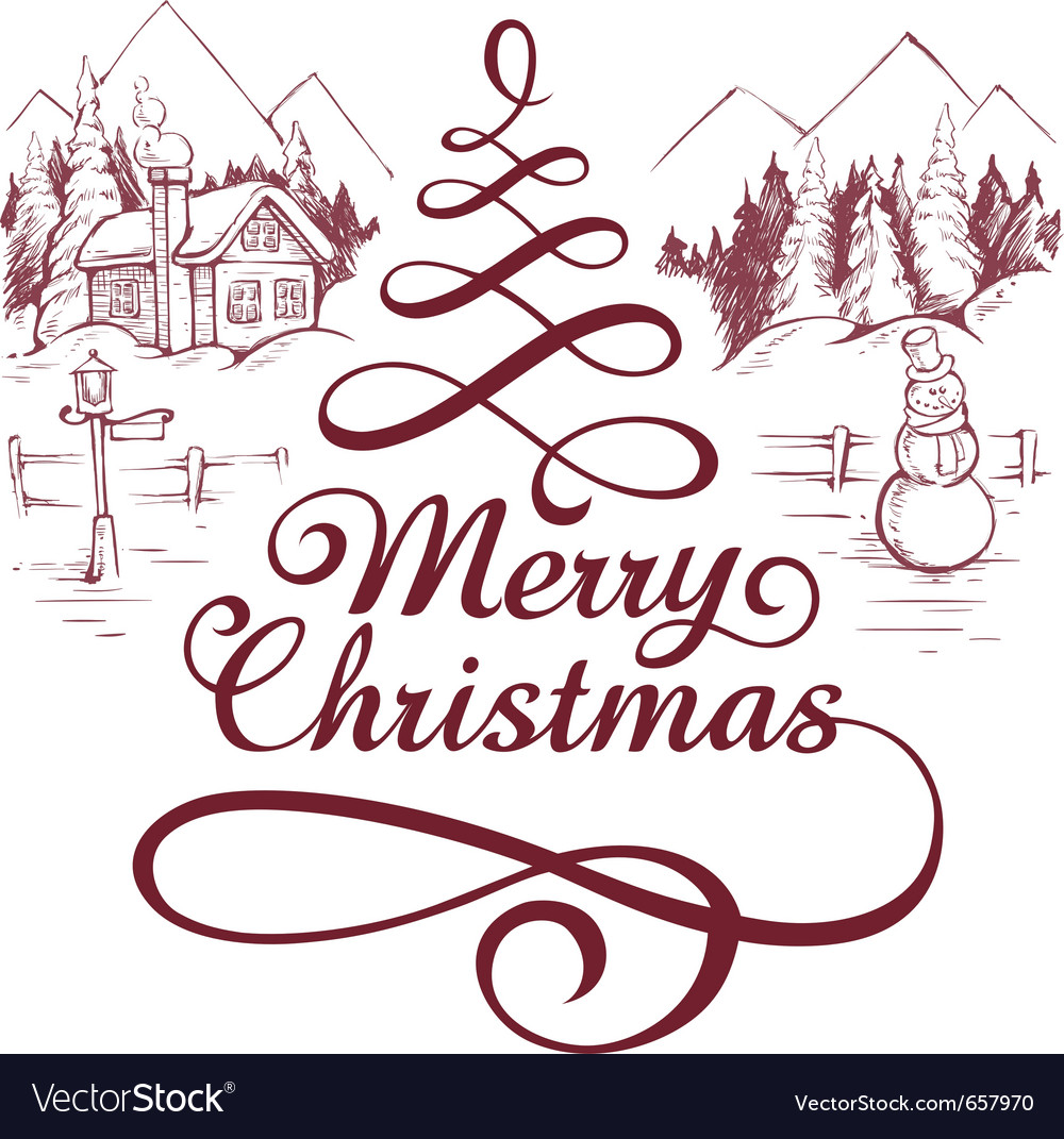 Calligraphic christmas letterin vector   Price: 1 Credit (USD $1)