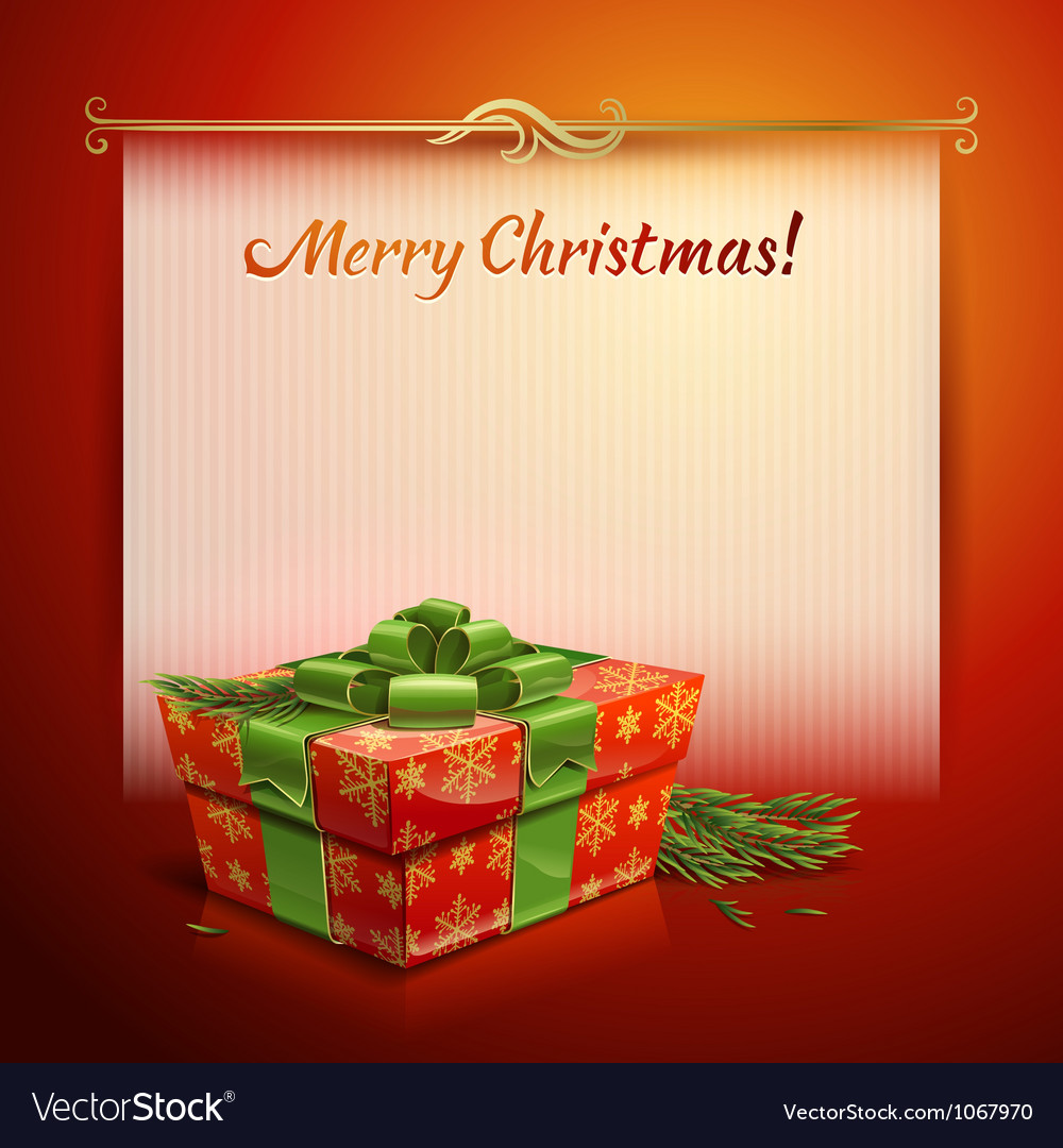 Christmas background with a gift vector | Price: 3 Credit (USD $3)