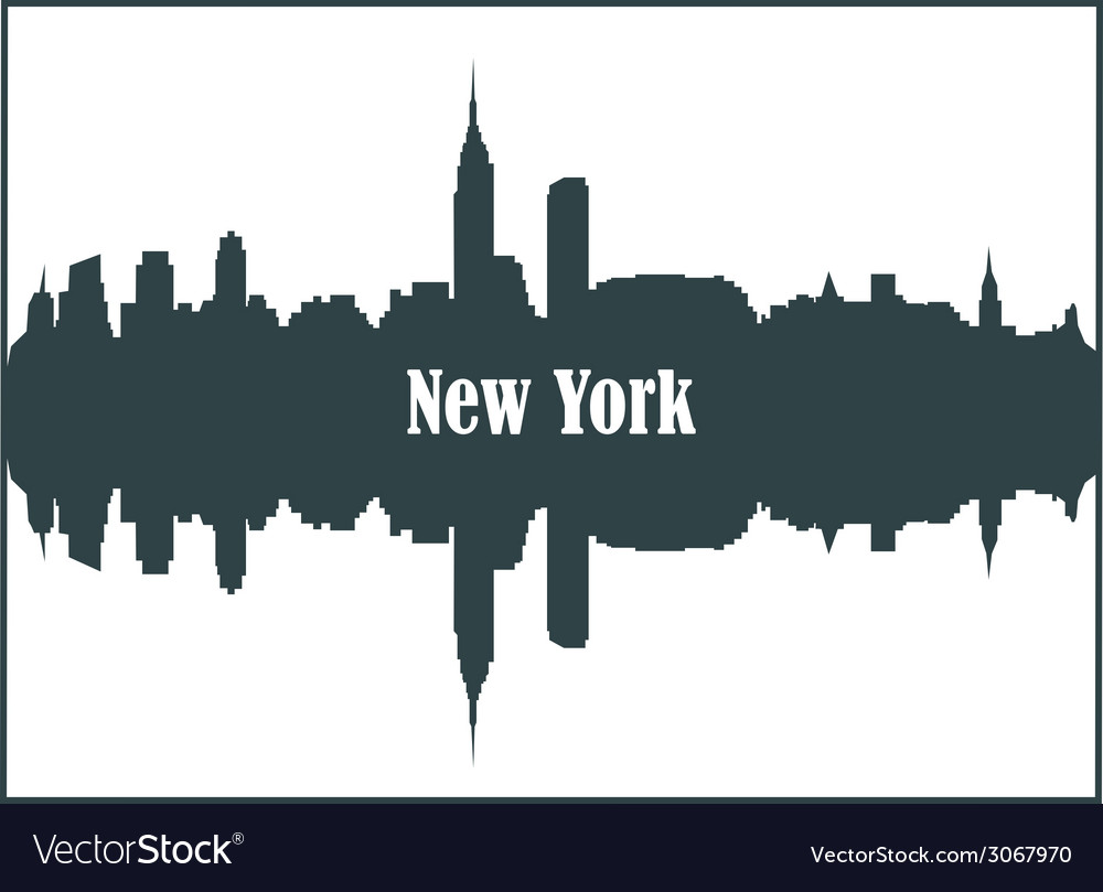 Contour of the city of new york vector | Price: 1 Credit (USD $1)