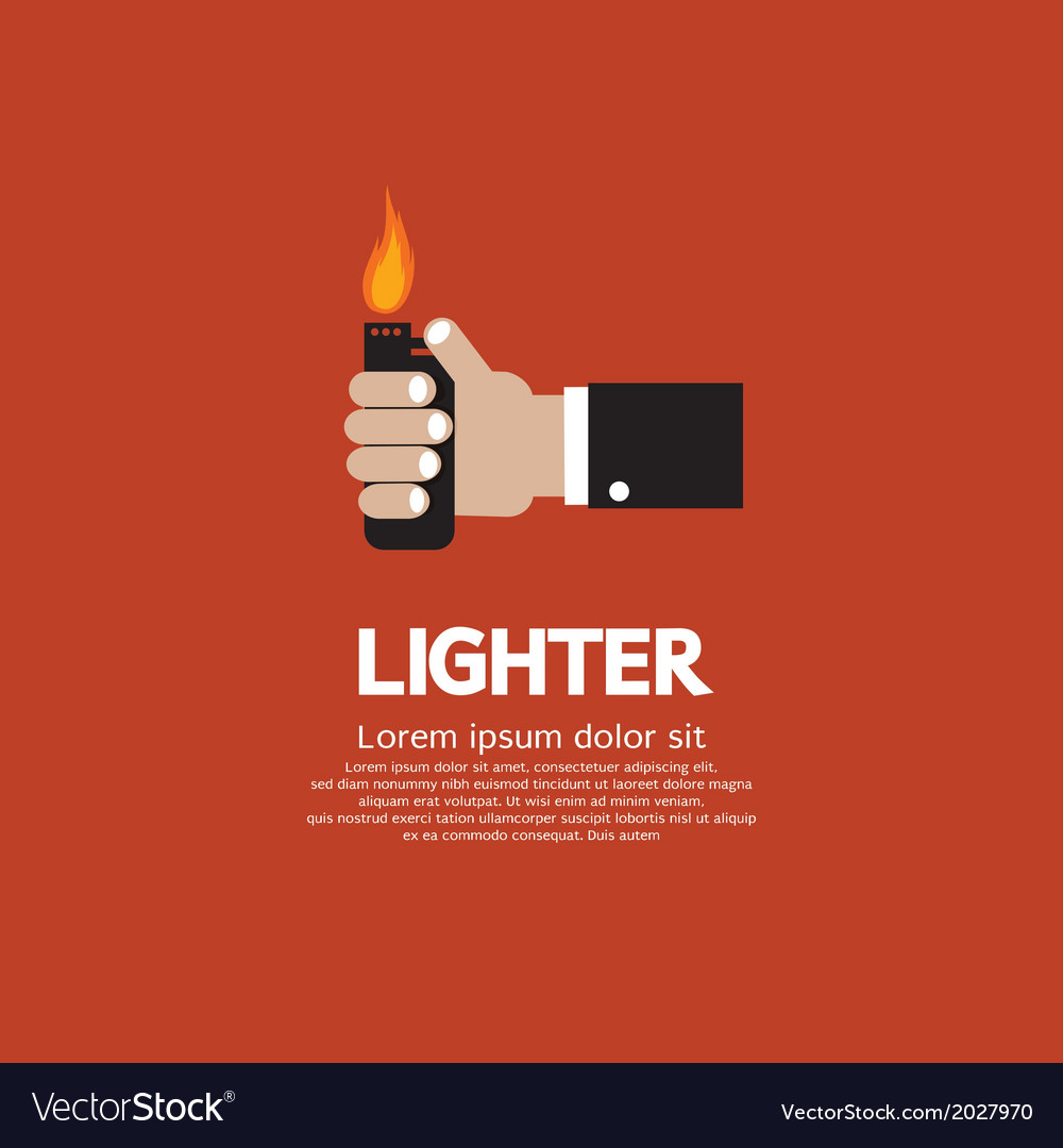Hand holding a lighter vector | Price: 1 Credit (USD $1)