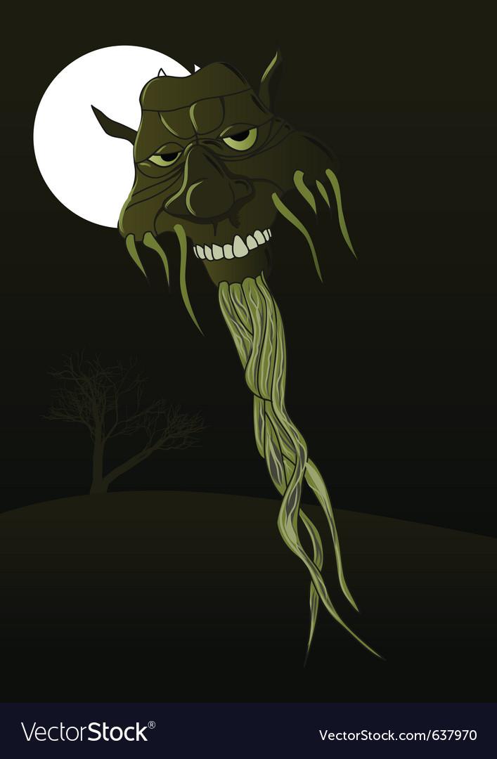 Monster head vector | Price: 1 Credit (USD $1)
