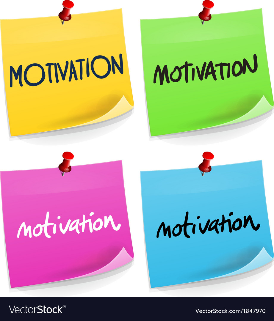 Motivation sticky note vector | Price: 1 Credit (USD $1)