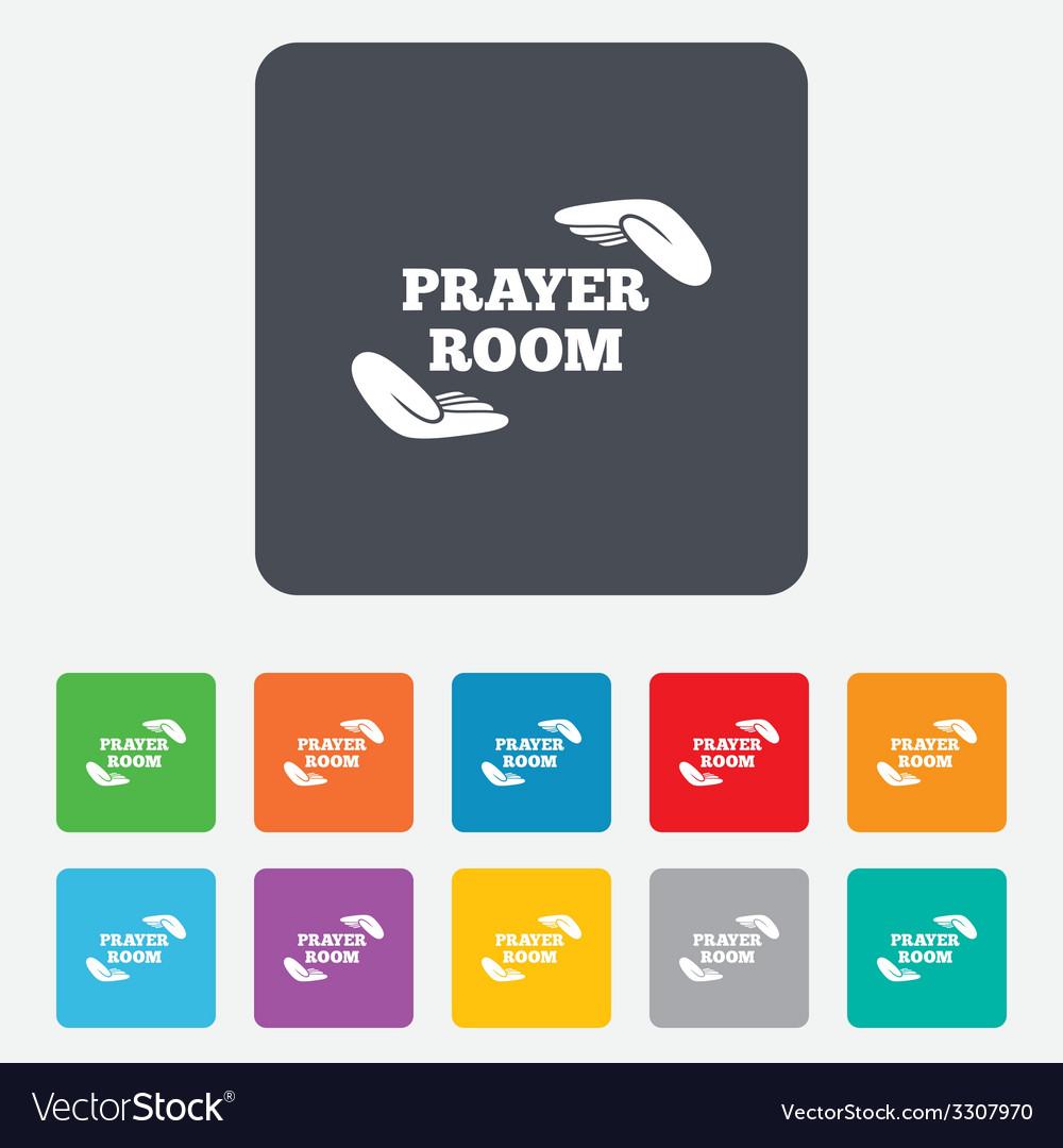 Prayer room sign icon religion priest symbol vector | Price: 1 Credit (USD $1)