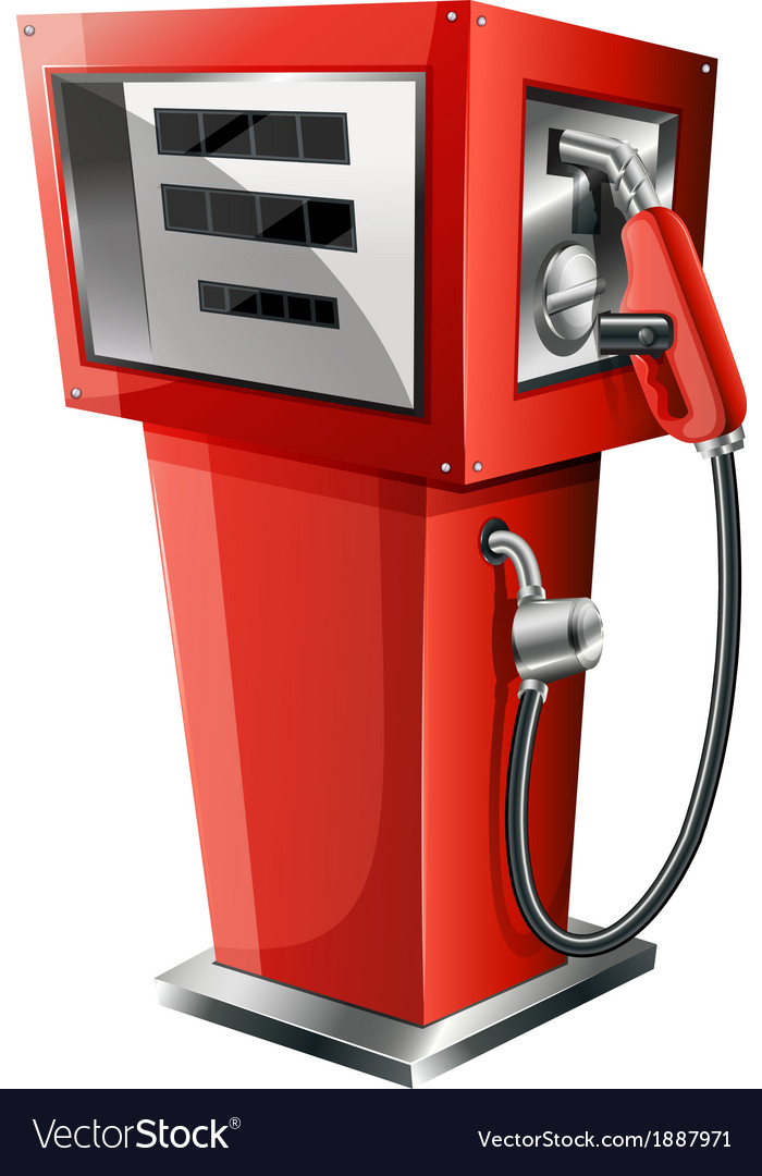 A red petrol pump vector | Price: 3 Credit (USD $3)