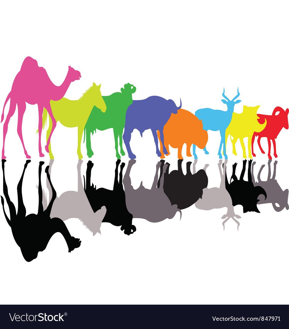 Animal silhouette vector   Price: 1 Credit (USD $1)