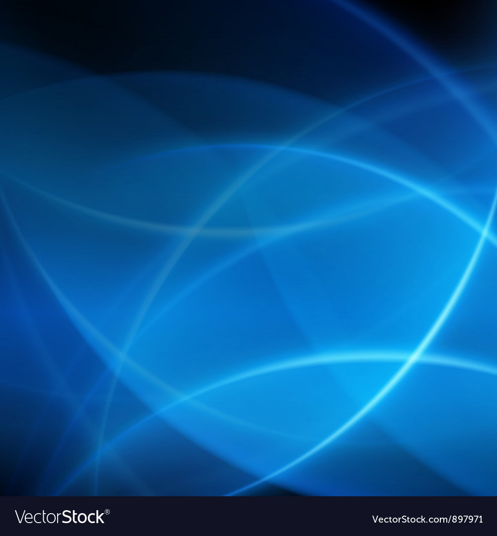 Blue smooth twist light lines background vector | Price: 1 Credit (USD $1)
