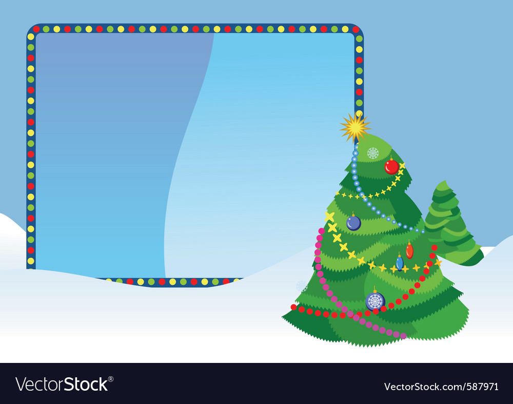 Christmas tree placard vector | Price: 1 Credit (USD $1)