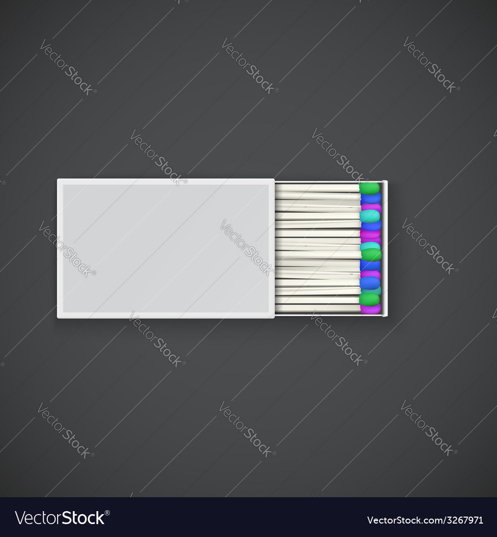 Colorful matches in a box vector | Price: 1 Credit (USD $1)
