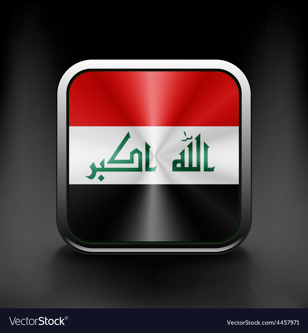 Iraq icon flag national travel icon country symbol vector | Price: 1 Credit (USD $1)