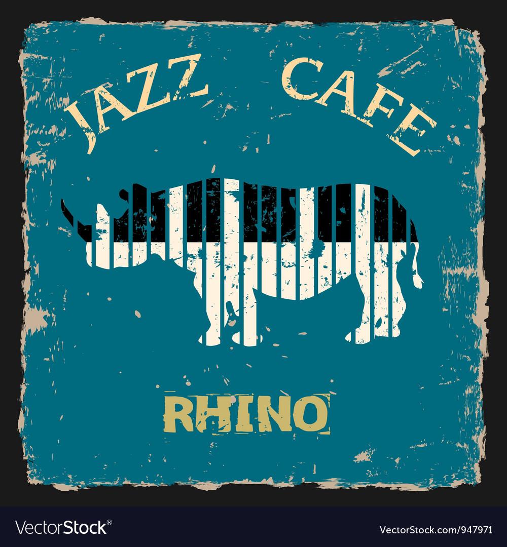 Musical rhino conceptual vector | Price: 1 Credit (USD $1)