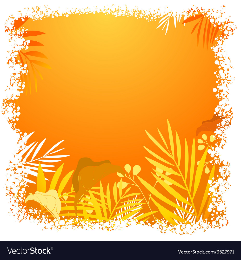 Nature floral frame vector   Price: 1 Credit (USD $1)