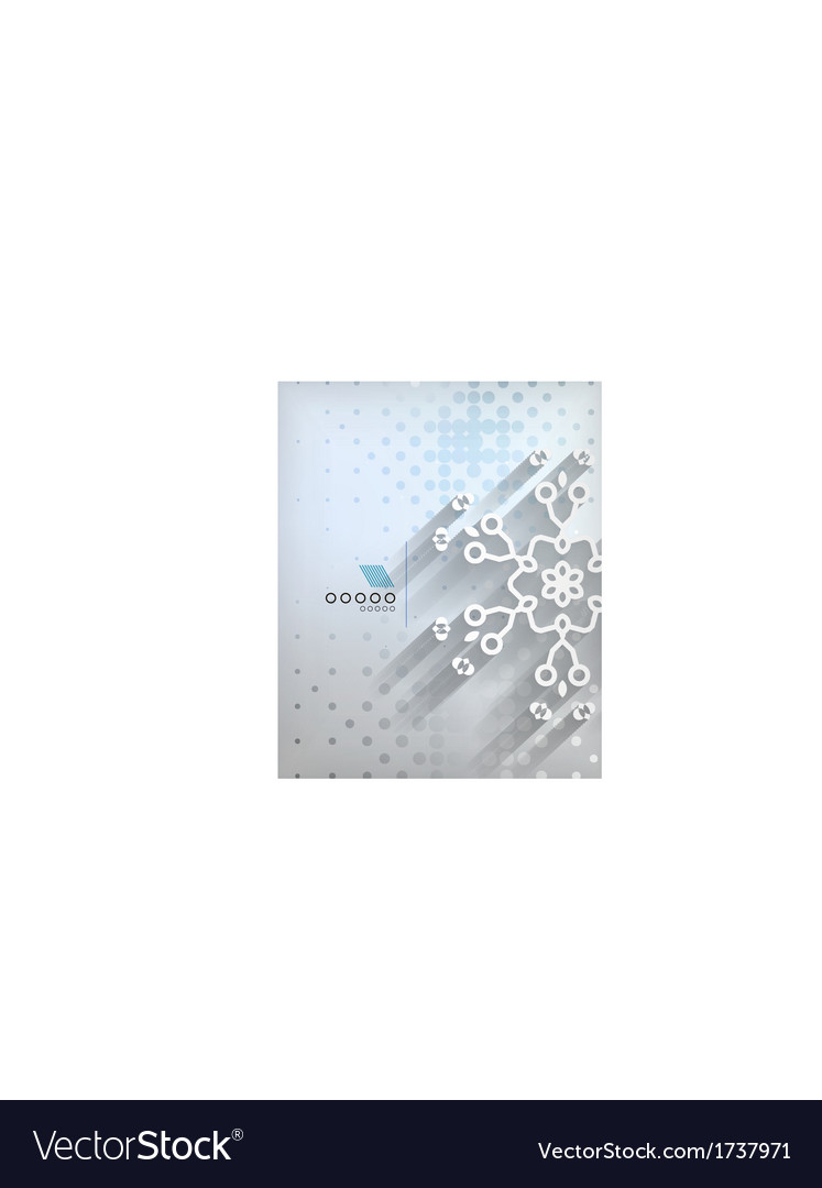 Paper snowflakes christmas geometric background vector | Price: 1 Credit (USD $1)