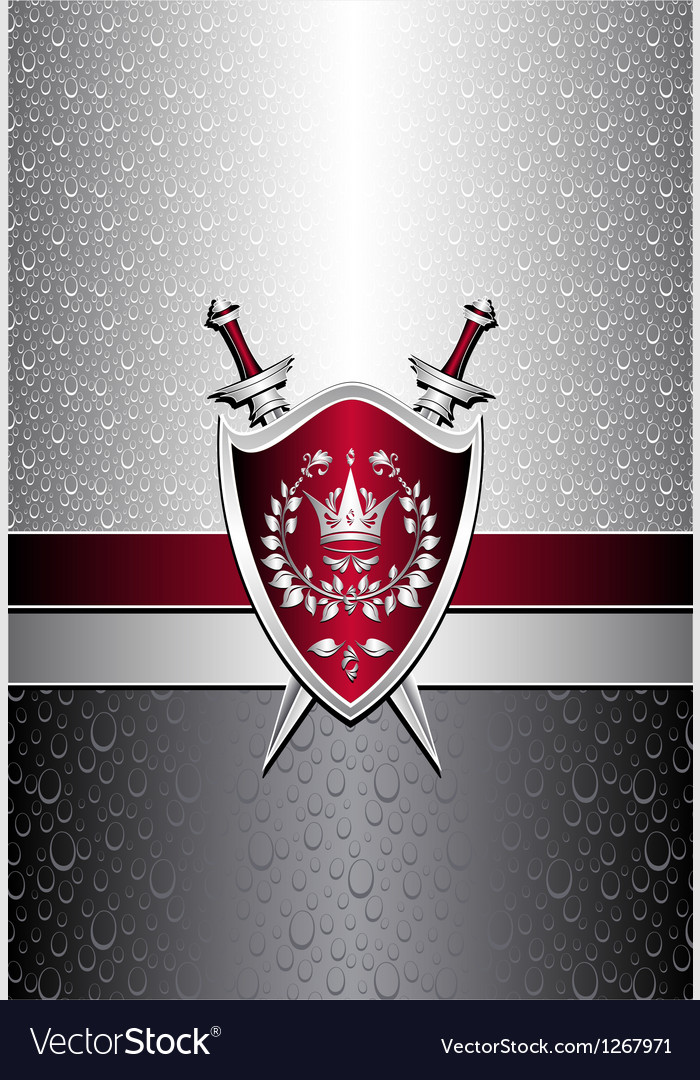 Seamless pattern with drops or shield swords on si vector | Price: 1 Credit (USD $1)