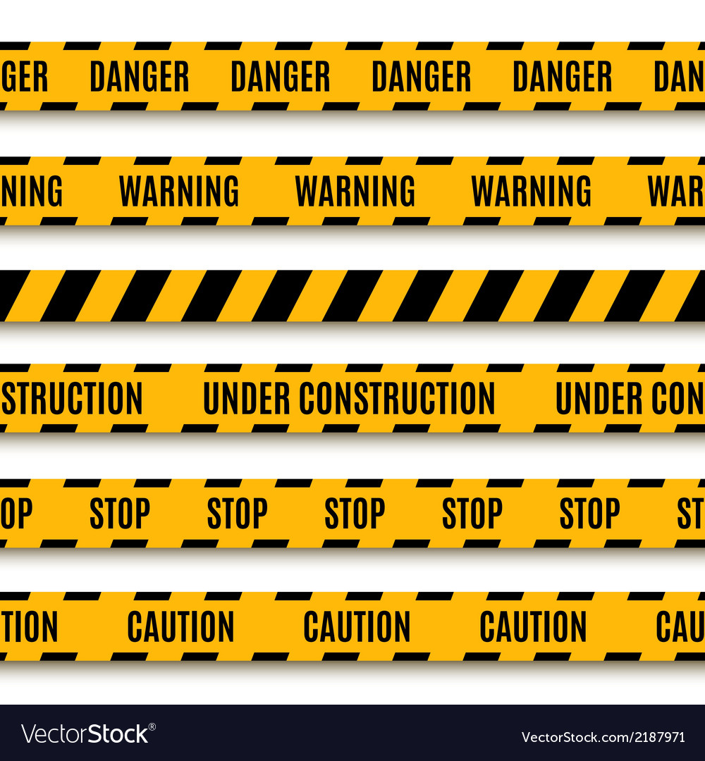 Set of yellow warning tapes vector | Price: 1 Credit (USD $1)