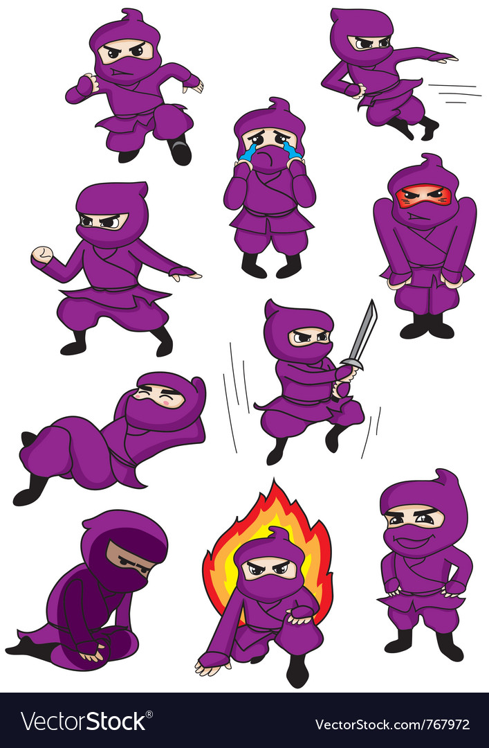 A set of ninja vector | Price: 1 Credit (USD $1)