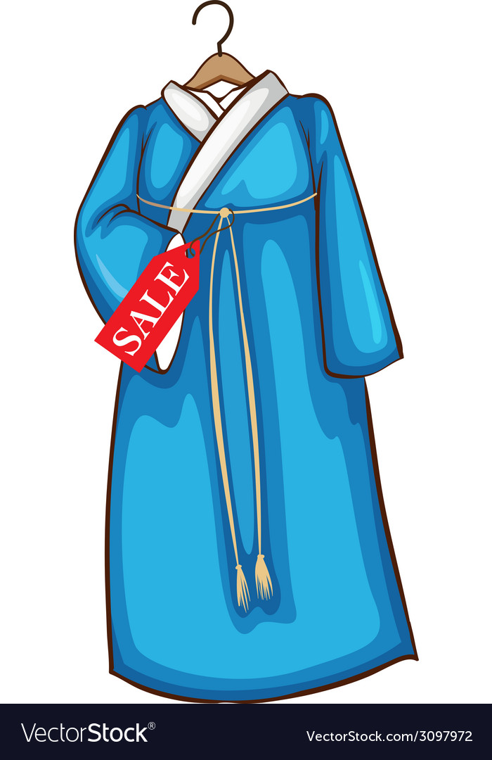 A simple sketch of a blue asian dress vector | Price: 1 Credit (USD $1)
