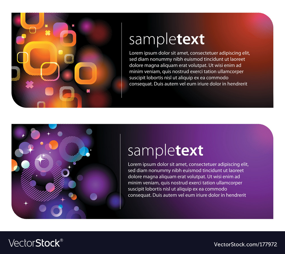 Abstract glittering banners vector | Price: 1 Credit (USD $1)